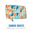 human rights people group speech buble vector image vector image