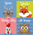 icon set cartoons design vector image