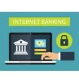 Internet banking online transaction vector image vector image