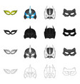 isolated object of hero and mask symbol vector image vector image