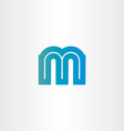 letter m blue icon design vector image vector image