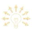 light bulb icon collage vector image