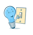 lightbulb switch vector image vector image