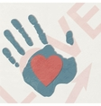 Loving hand abstract background vector image