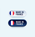 made in france sign in two color styles vector image vector image