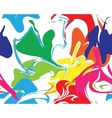 Marble rainbow texture seamless pattern vector image