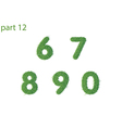 numbers text of green grass part two vector image vector image
