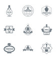 odour logo set simple style vector image vector image