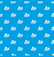 oken arm and safety shield pattern seamless blue vector image vector image