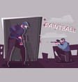paintball flat poster vector image vector image