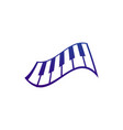 piano music logo and icon design vector image vector image
