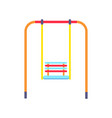 picture of ordinary swing for children to have fun vector image vector image