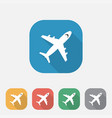 plane flat icon airport sign vector image
