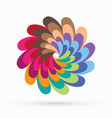 rainbow fan spin colorful sign abstract circle vector image vector image