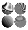 round shapes geometric abstractions vector image vector image