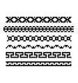 seamless black border vector image vector image