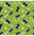 seamless dogs and bone pattern vector image vector image