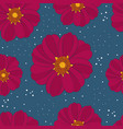 seamless pattern with rare flower vector image vector image