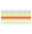 searchlight shape halftone spectrum array vector image vector image