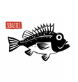 Sebastes black and white vector image vector image