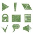 Set icons symbols arrows checkmark envelope vector image
