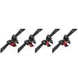 set of black bows with diagonally ribbons and vector image vector image