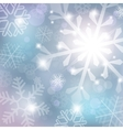 silver abstract background with snowflake vector image