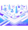 smart city future technology isometric flowchart vector image