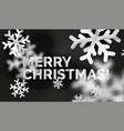 snowflake christmas greeting card template vector image vector image