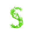 spring flowers alphabet s vector image vector image