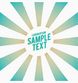 stylish blue rays with halftone effect background vector image
