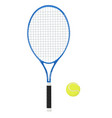 tennis racket with yellow ball 3d vector image vector image