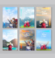 travel brochure layout template idea concept vector image vector image