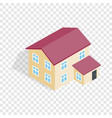 two storey house isometric icon vector image