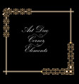 typographic document corner in gold art deco vector image vector image