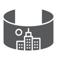 vr city glyph icon virtual and town virtual city vector image vector image