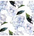 Watercolor gardenia pattern vector image vector image