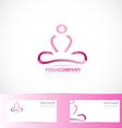 Yoga meditation 3d logo vector image vector image
