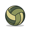Military sport ball Army Sports accessory for vector image