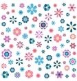pattern with colorful flowers vector image
