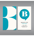 Business card template letter B vector image