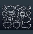 abstract handdrawn doodle speech clouds set vector image