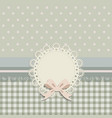 background card with a cloth napkin and bow vector image vector image