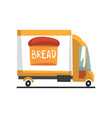bakery delivery truck on a vector image vector image