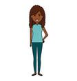 beautiful black woman avatar character vector image vector image