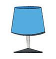 blue lamp light electrical decoration vector image