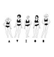 body positive female characters vector image