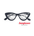 cat eye glasses vector image vector image