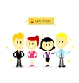Certified Professional Employees vector image vector image