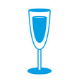 Champagne glass icon vector image